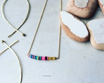 Gold with colorful african beads