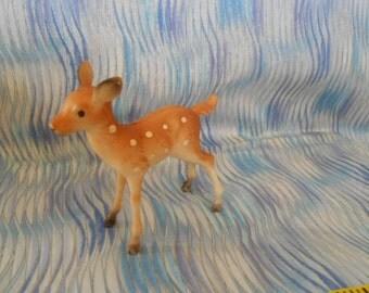 Baby Deer Hard Plastic Figurine-Vintage