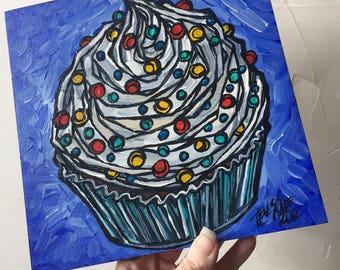 Confetti Cupcake original painting