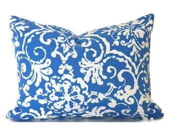Outdoor Lumbar Pillow Cover Decorative Pillows Blue Pillow P Kaufmann OD Affair Cornflower