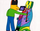 Animation cel Duck with moviola 1974