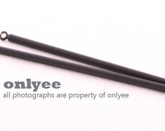 2pcs-62mmX2mm Coated Black plated Brass Long Bar Stick for Earring Supplies, jewelry pendant (K1255B)