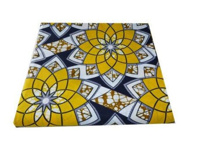 African Fabrics Super Wax Print Sold BY FAT QUARTER