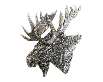 Premium Moose Head ~ Lapel Pin/Brooch ~ M016PR,MC016PR,MP016PR