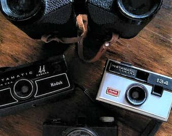 Vintage Collection of Cameras and Binocular