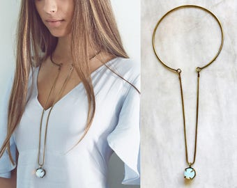 Sphere choker necklace