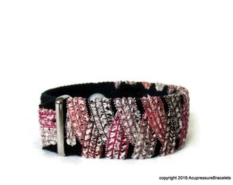 Multi-Symptom Bracelet for Stress Relief, Headaches, Anxiety (one bracelet) Tearose