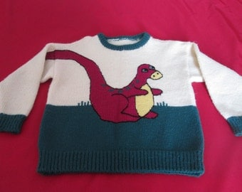 Vintage child's sweater wool / chill handmade sweater