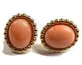 Small 14K Gold and Coral Post Earring
