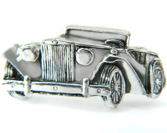 Antique Car Cufflinks Anson Roadster Auto Vintage Jewelry Accessory For Men Classic Antique Automobile Formal Wedding Gentleman Husband Gift