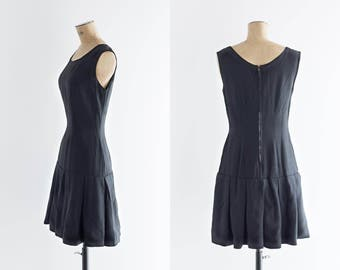 ON SALE 1960s Dress - 25% OFF Vintage 60s Little Black Dress - Guetaria Dress