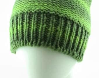 Medium size hand-knit beanie