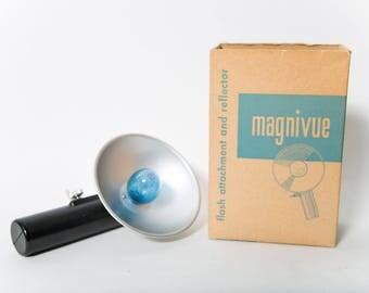 Magnivue Flash Attachment 1960s Vintage Camera Accessory Original Box