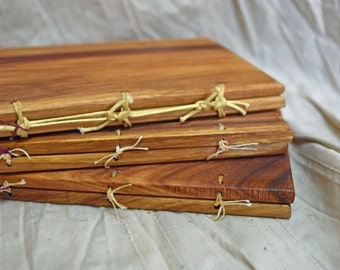 Exotic canary wood Wax Tablet with bronze stylus