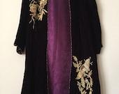 Velvet Coat dress, deep purple/aubergine, formal shalwar kameez, jamawar, indian jamawar, pakistani clothing