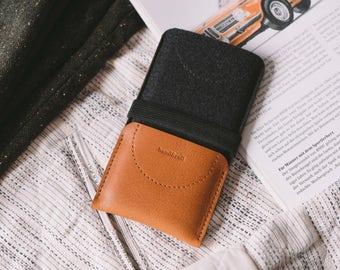"""iPhone 7 Plus Sleeve, iPhone 7 Plus Wallet, leather, wool felt, """"Kangaroo"""""""