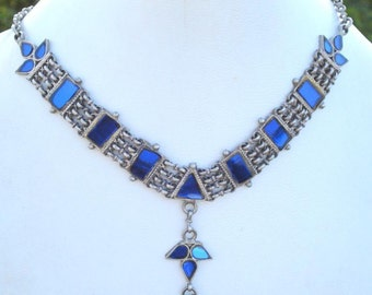 Traditional Design Sterling Silver Necklace Rajasthan india