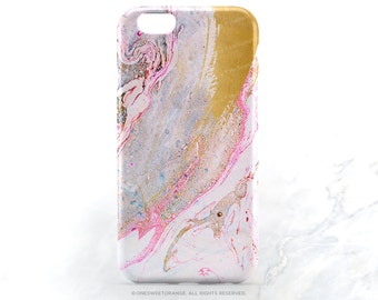 iPhone 7 Case Pink Marble Faux Gold Print iPhone 7 Plus Case iPhone 6s Case iPhone SE Case iPhone 6 Case iPhone 5S Case Galaxy S7 Case N1
