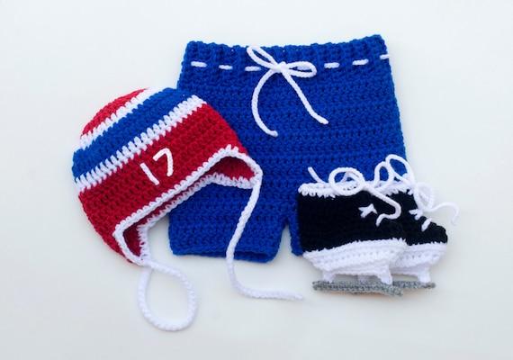 BABY HOCKEY BOY Baby Crochet Hockey Baby Hockey Outfit