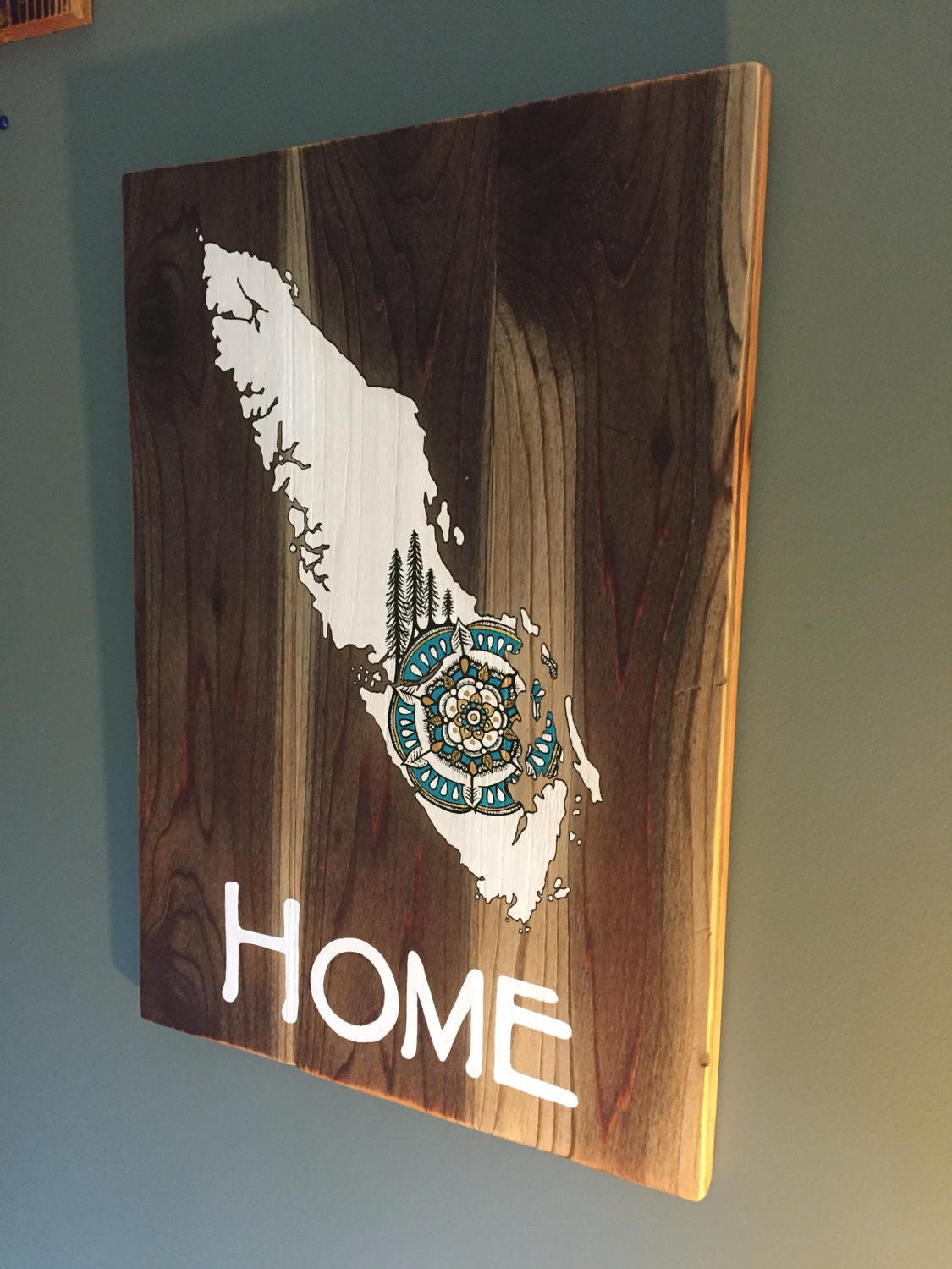 Sitka Mandala Home Vancouver Island Reclaimed Wood Map Rustic