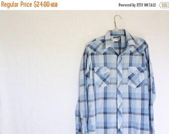 Sale Vintage Wrangler Shirt / Vintage Western Shirt / 1970's Shirt / Cowboy Shirt / Vintage Mens Shirt / Vintage Wrangler M/L