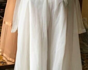 Vintage 60's sheer nylon chiffon peignoir set burlesque bride
