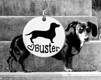 Dachshund Necklace | Dachshund Jewelry | Personalized Dog Necklace | Dog Gift | Personalized Gifts | Korena Loves