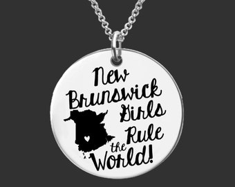 New Brunswick Necklace | New Brunswick Jewelry | Canada Necklace | Bridesmaid Gifts | Daughter Gift | Korena Loves