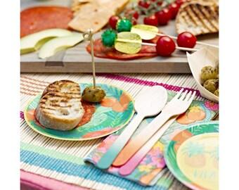 Ombre Fiesta Wooden Cutlery