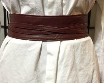 Lamb leather soft belt
