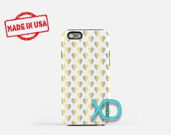 Dual Tone Phone Case, Dual Tone iPhone Case, Love iPhone 7 Case, Yellow, Gray, Love iPhone 8 Case, Dual Tone Tough Case, Clear Case, Heart