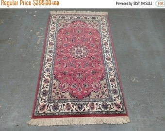 YEAR END CLEARANCE 1980s Vintage, Hand-Knotted, Pakistani Tabriz Rug (2246)