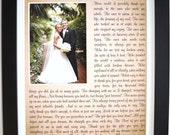 ANY Message Poem Words, personalized wedding Gifts for Parents From Bride Groom, Custom Photo MatThank You Gift Picture unique