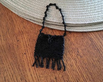 Vintage Glass bead Doll Purse