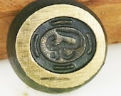 Bronze Impression mold OM Yoga Symbol, Ceramic Clay Mold, Polymer Clay Mold, PMC Clay Yoga OM, Vintage Om Symbol Jewelry Impression Die Mold