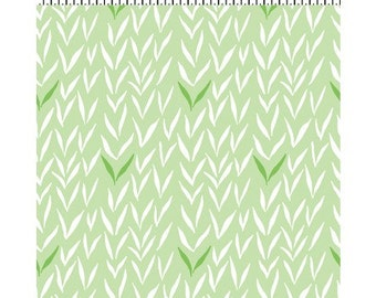 Geo by Betsy Olmsted for Clothworks Fabrics Organic Cotton Organic Woodland Fabric Green Leaves Fabric Grass Green Fabric
