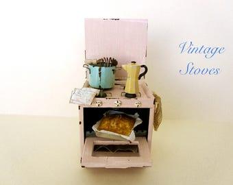 Dollhouse Miniature Stove Vintage