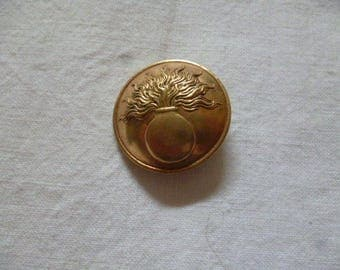 Lovely Art Nouveau Brass Button
