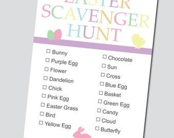 Easter Scavenger Hunt List - INSTANT DOWNLOAD