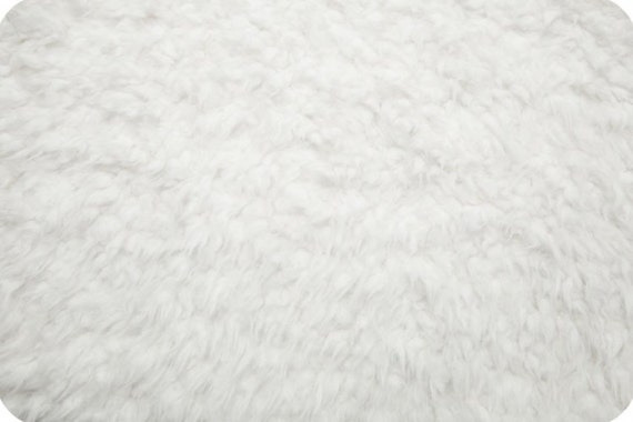 faux fur fabric llama fur cuddle fabric in white by shannon. Black Bedroom Furniture Sets. Home Design Ideas