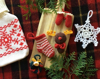 Amigurumi christmas set ornaments winter crochet