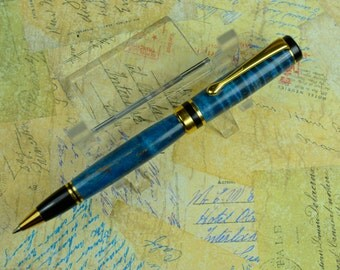 Blue Maple Ballpoint Pen Groomsman Gift Anniversary Gift Handcrafted Mens Gift Ladies Gift #118
