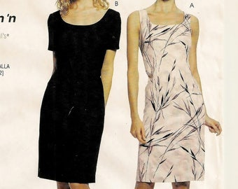 A Short Sleeve/Sleeveless, Scoop Neck, Back Slit Column Dress Sewing Pattern for Women: Uncut -Sizes 16-18-20-22 ~ Stitch 'n Save 904 / 2460