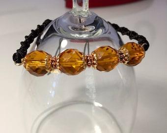 Honey Yellow Adjustable Macramé Bracelet