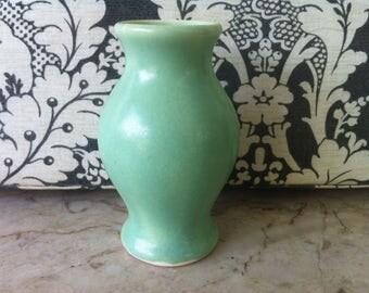 Camark Art Pottery Cabinet Vase, Classic Vintage Art Pottery – Matte Light Green, Designed by Famous Potter John Lessell, FREE SHIPPING