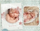 ON SALE Photo Card Template, Christmas Card Template, Photoshop Psd vol.17