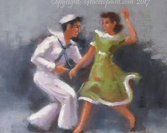 Jive II...Original Oil Painting by Maresa Lilley, SND