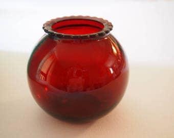 Anchor Hocking Ruby Red Ball Vase