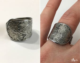 Handcrafted Upcycled Spoon Ring - Approx. Size 7