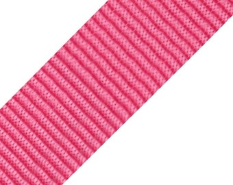 Polypropylene webbing, width 40 mm, pink, bag accessories